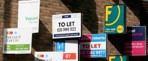 Estate agent signboards