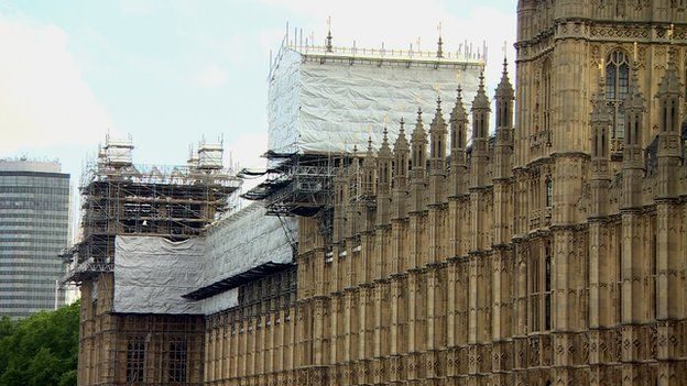 Renovation works on the Houses of Parliament