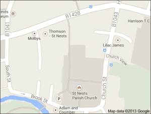 A map of our St. Neot's office.