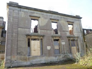 Arson attack, damaged wing to Grade II listed building